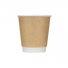 Karat 10oz Wrapped Insulated Paper Hot Cups - Kraft (90mm) - 500 ct, C-WIC510K
