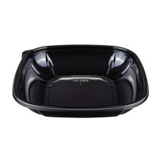 Karat 24 oz PET Square Bowl (Black) - 300 ct , FP-BS24-PETB