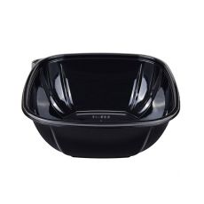 Karat 48 oz PET Square Bowl (Black) - 300 ct , FP-BS48-PETB