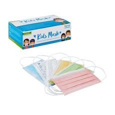 Karat 3-Ply Kids Face Mask with Elastic Ear Loops (Mixed Colors) , GS-PPE225a