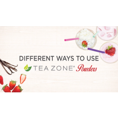 Different ways to use Tea Zone powders