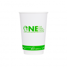 Karat Earth 16 oz. Eco-Friendly Insulated Paper Hot Cups - One Cup, One Earth - 90mm - 500 ct , KE-KIC516